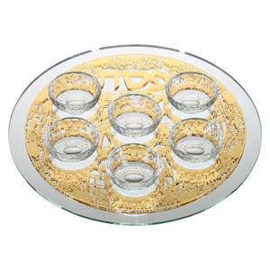 Mirror And Glass Seder Plate