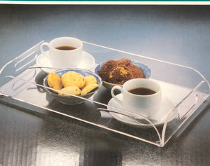 Lucite Serving Tray With Handles