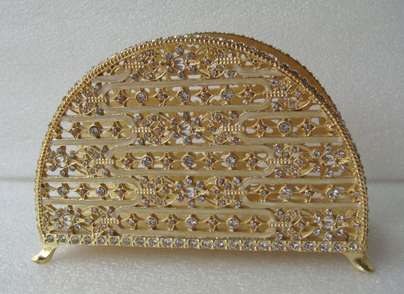 Upright Napkin Holder With Crystals