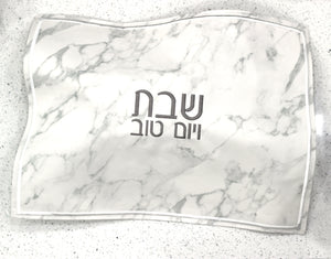 Faux Leather Challah Cover marble Design