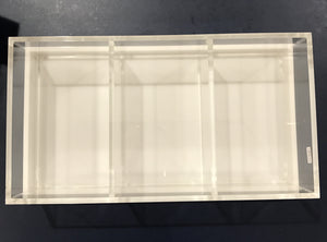 3 Section Lucite With White Lid 12x6
