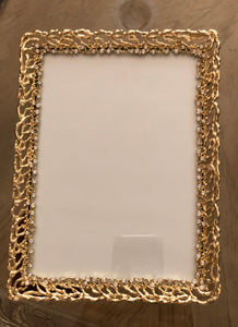 Jeweled Aylena Frame Gold Plated 5 X 7