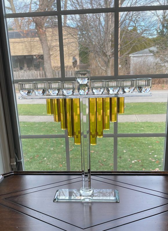 Crystal Gold Menorah