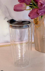 Double Wall Glass travel Mug