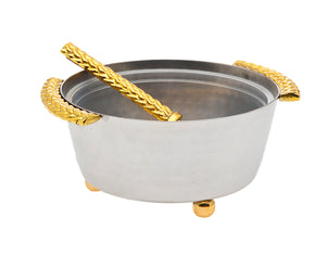 Herringbone Dip Bowl W/ Spoon