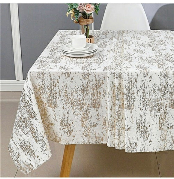 Velvet Metallic Tablecloth