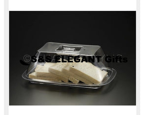 Lucite Bread/Muffin Tray W/ Cover
