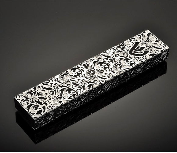 Metal Lace Mezuzah Holder