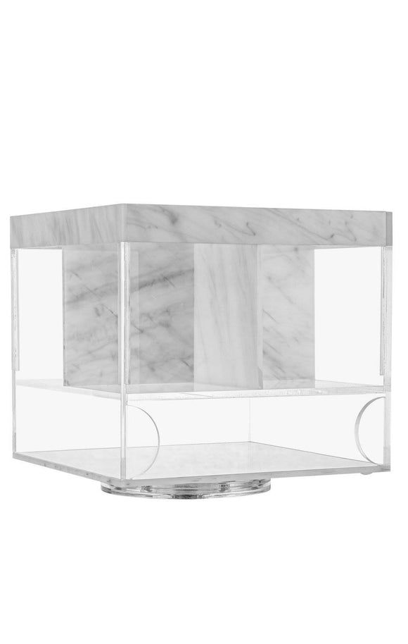 Lucite Swivel Silverware Caddy