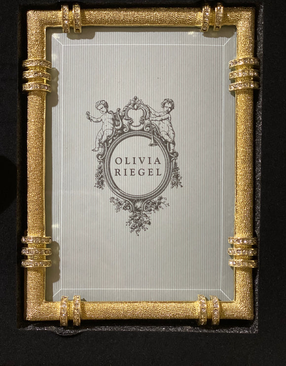 Olivia Riegel Gold Cassini Picture Frame With Crystals