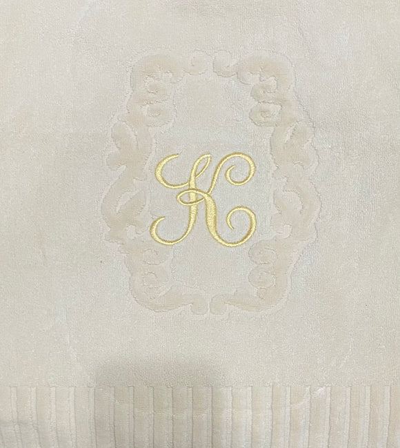 Hand towels with Initials