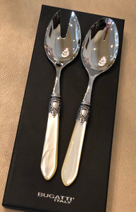 Oxford Mother Of Pearl Salad Set Ivory