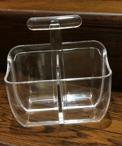 Lucite Caddy with Handle