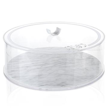 Lucite Round Matzah Box U Collection