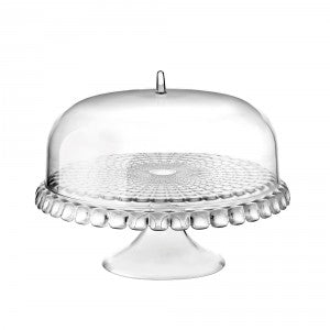 Tiffany Cake Stand With Dome Lucite