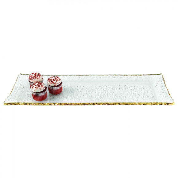 Gold Edge Rectangular Tray