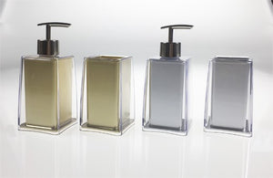 LUCITE DOUBLE LAYERED SOAP DISPENSER & TUMBLER