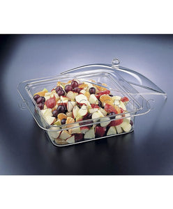 LUCITE QUARE 3-IN-1 BOWL & TRAY W/ COVER