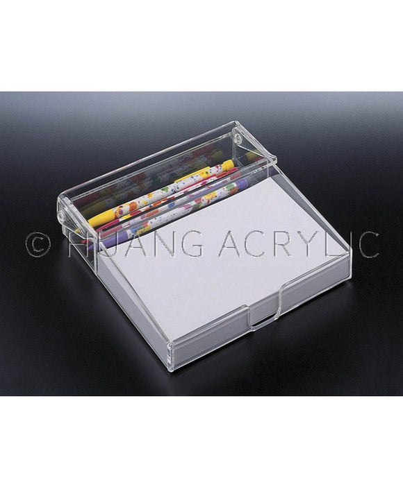 Lucite Notepad Holder with paper