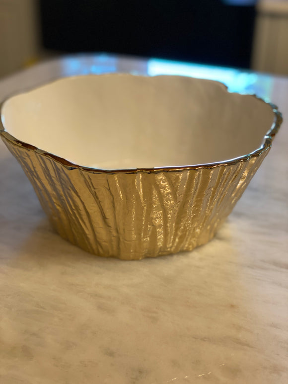 Tree Bark Bowl Gold