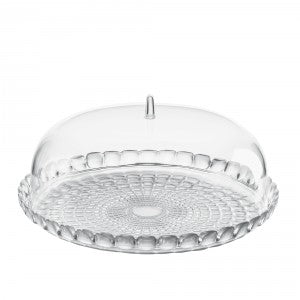 Tiffany Lucite Cake Platter With Dome
