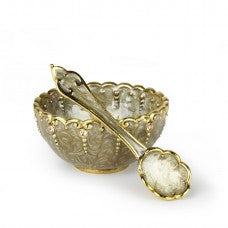 Salt Cellar/Honey Dish With Mini Spoon