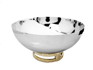 STAINLESS STEEL BOWL WITH GOLD