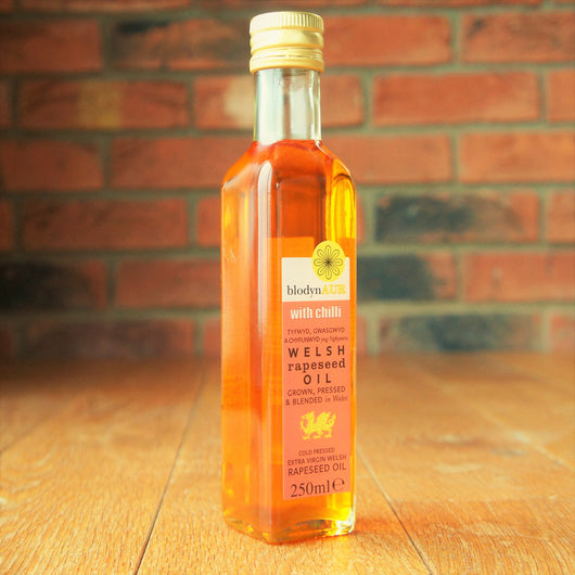 Blodyn Aur - Welsh Rapeseed Oil with Chilli - Taste of Wales