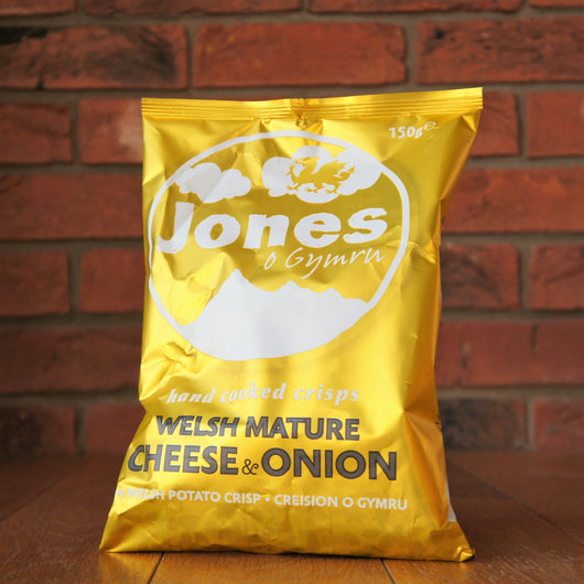 Jones Crisps - Mature Cheese & Onion - Taste of Wales