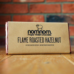 NomNom Chocolate - Flame Roasted Hazelnut - Taste of Wales