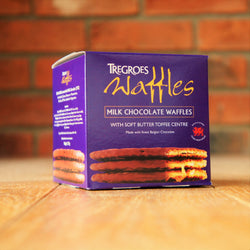 Tregroes Waffles - Milk Chocolate Waffles - Taste of Wales