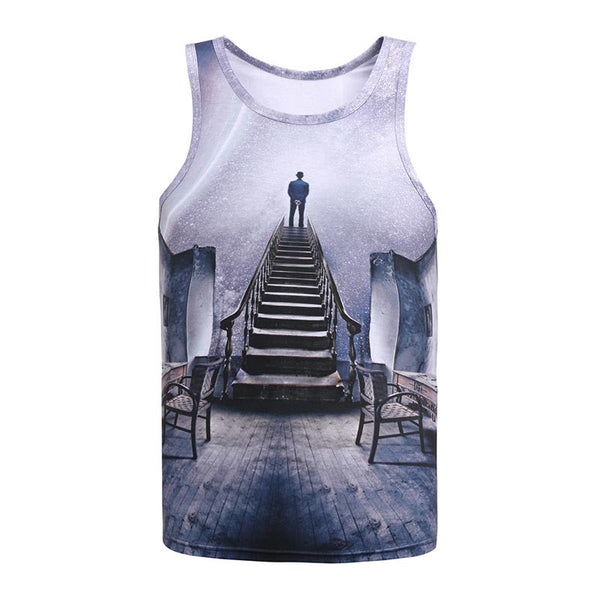 814e75b8f019 Stairway to the Sky Sublimation Tank Top Men/Women - EDM Clothing Company