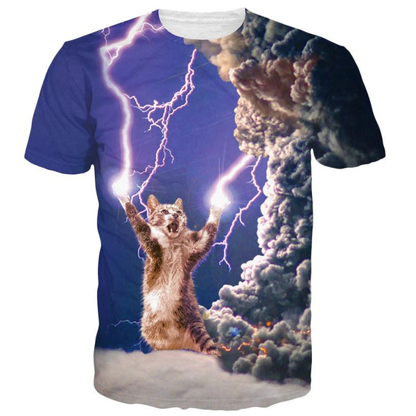Thunder Cat Lightning Cat Sublimation T-shirt Men/Women - EDM Clothing Company