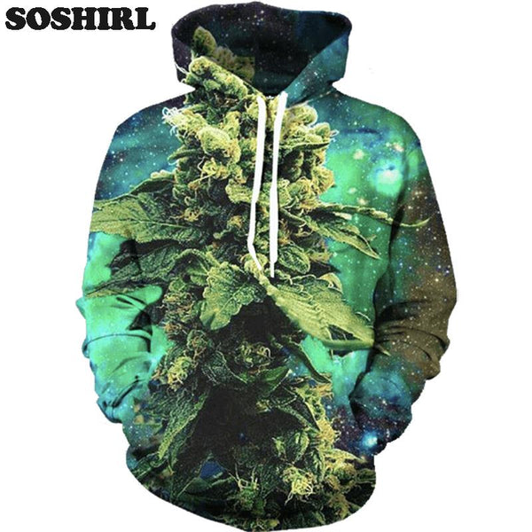 Galaxy Weed Sublimation Unisex Hoodie - EDM Clothing Company