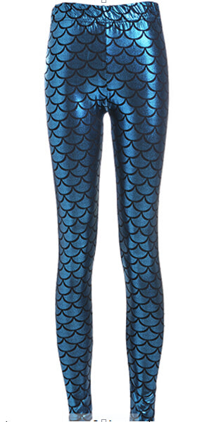 Dragon scale or mermaid scale leggings - EDM Clothing Company