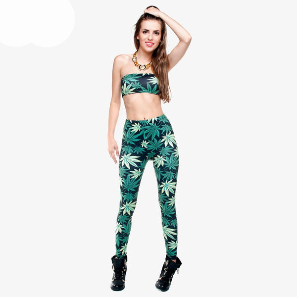 Weed Print Leggings in 4 colors - EDM Clothing Company
