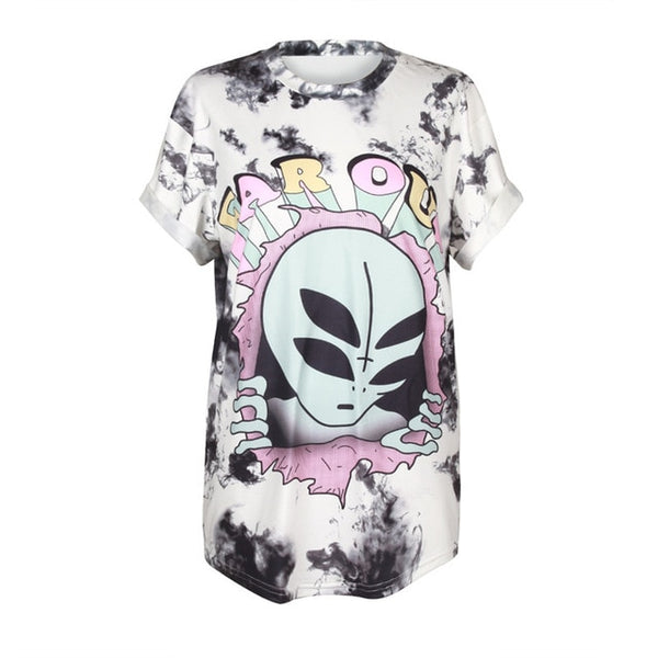 Take Me To Your Leader Alien Women's T-shirt - EDM Clothing Company