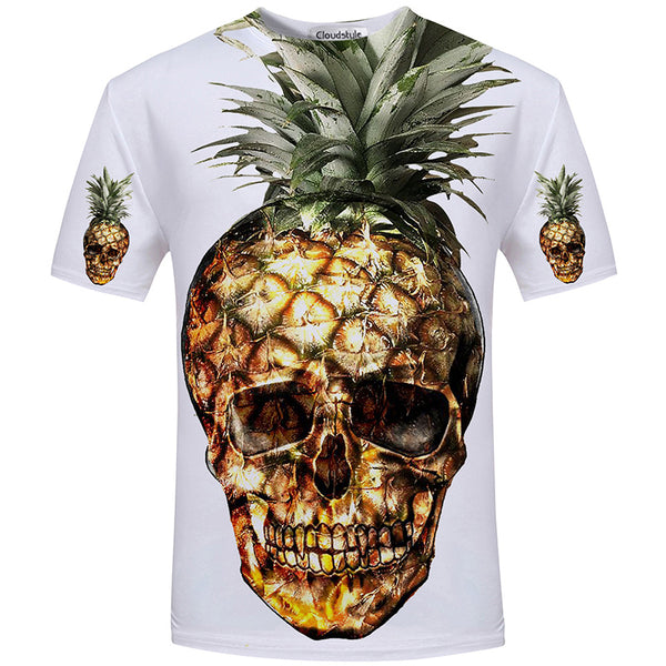 Skull Optical Illusion 3D digital print t-shirt - EDM Clothing Company