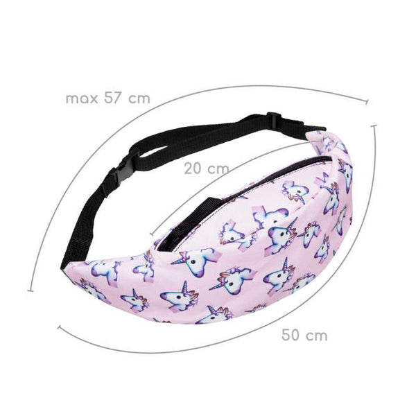 Pink Unicorn Festival or Rave friendly Fanny Pack - EDM Clothing Company