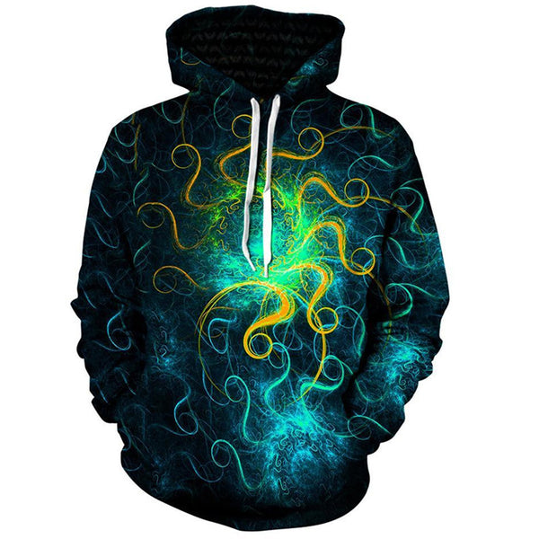 Galaxy Space Punk Pullover Hoodie Men Women - EDM Clothing Company