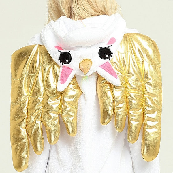 Gold and Pink Unicorn Unisex Onesie Kigurumi - EDM Clothing Company