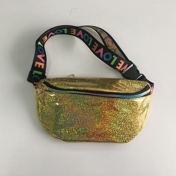 Gold Sparkly Fanny Pack - EDM Clothing Company