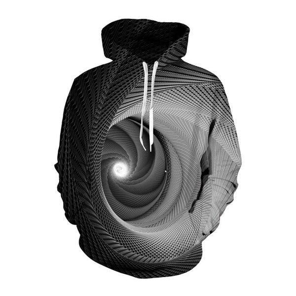 Hypnosis Vortex Trippy Optical Illusion Hoodie - EDM Clothing Company