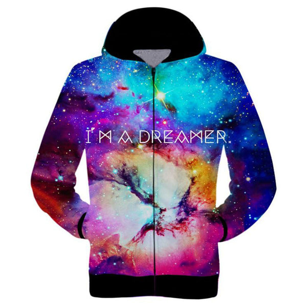 I AM A DREAMER Sublimation Hoodie Men/Women - EDM Clothing Company