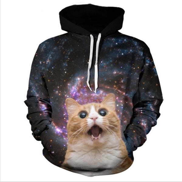 My God it's Full of Stars Cat Tripping Out Galaxy Print - EDM Clothing Company