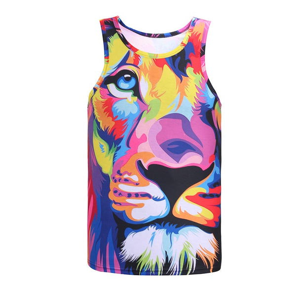 Watercolor Lion Sublimation Tank Top Men/Women - EDM Clothing Company