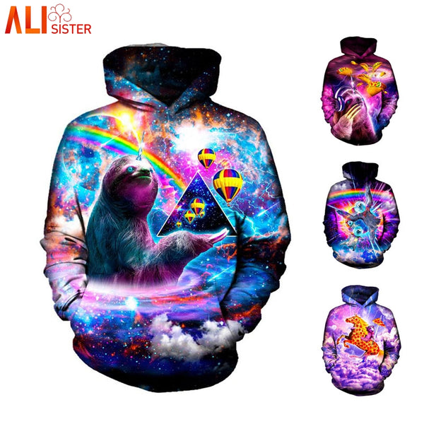 Galaxy Sloth Unisex Hoodie - EDM Clothing Company