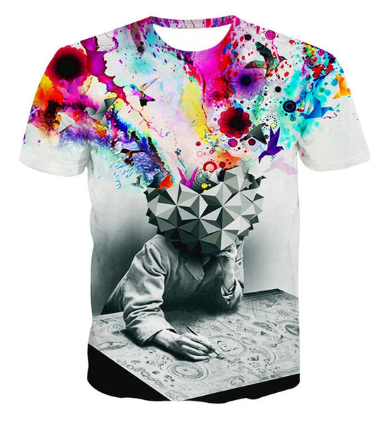 Mind Blown Creatively Colorful Sublimation T-Shirt Men/Women - EDM Clothing Company