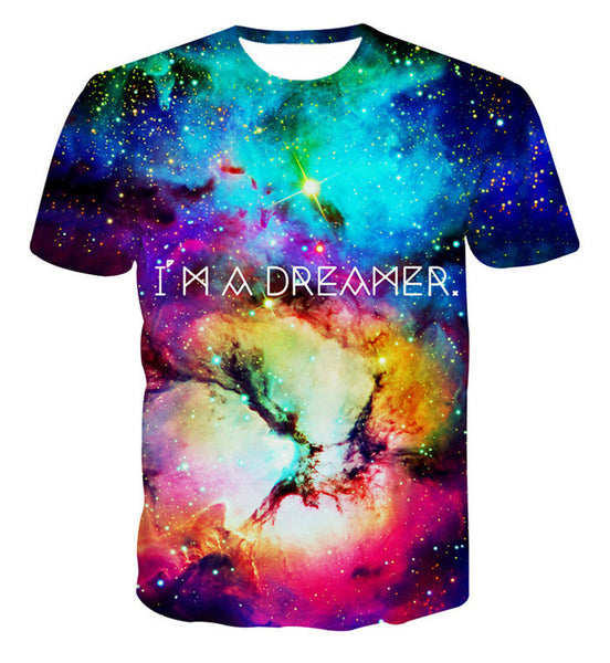 I'm a Dreamer Sublimation Galaxy Unisex T-Shirt - EDM Clothing Company