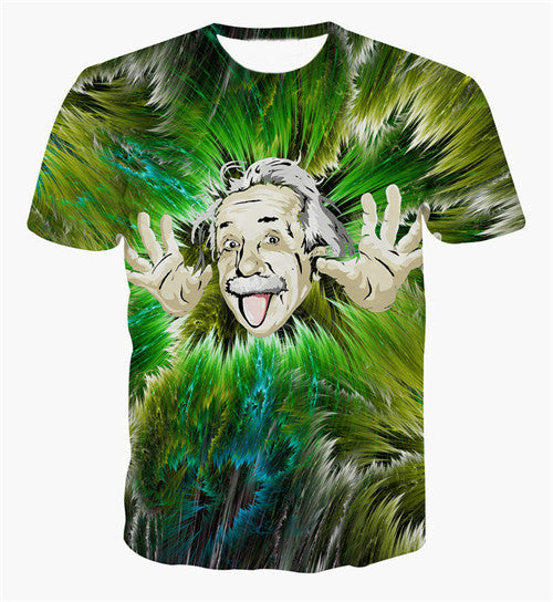 Psychedelic Einstein Sublimation T-Shirt Men/Women - EDM Clothing Company